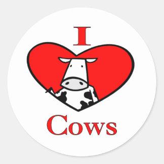 私は赤い牛を愛します ラウンドシール