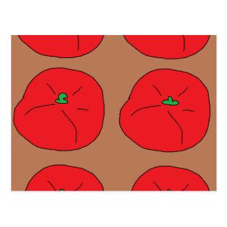 私は赤く水分が多いトマトを愛します ポストカード
