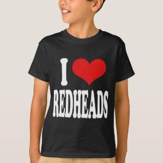 私は赤毛を愛します Tシャツ