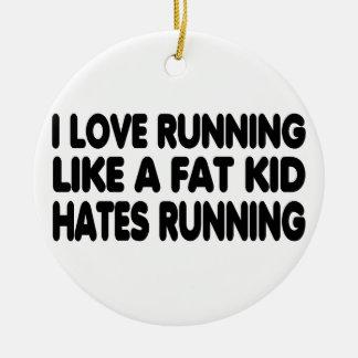 私は走ることを愛します セラミックオーナメント