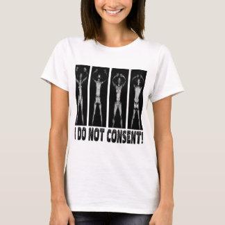 私は走査器体の承諾しません Tシャツ