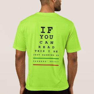 私は走視力検査表-スポーツTek SSの走ること--をあたためています Tシャツ
