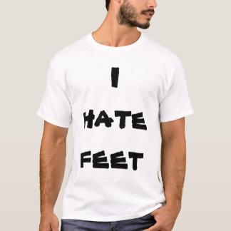 私は足のティーを憎みます Tシャツ
