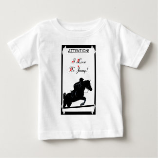 私は跳ぶことを愛します! 馬 ベビーTシャツ