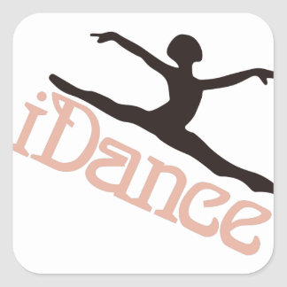 私は踊ります スクエアシール