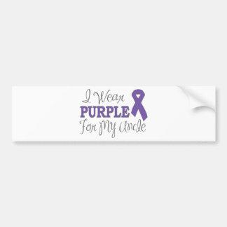 私は身に着けています私の叔父さん(紫色のリボン)のための紫色を バンパーステッカー