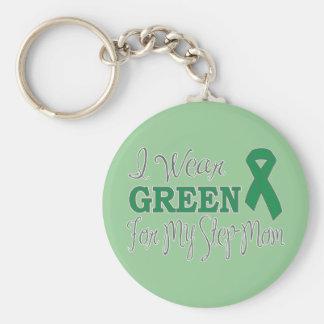 私は身に着けています私の義母(緑のリボン)のための緑を キーホルダー