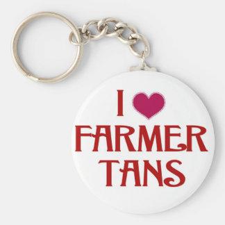 私は農家を日焼けします愛します キーホルダー