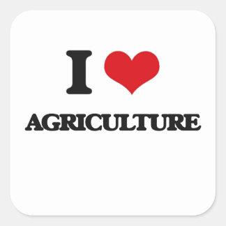 私は農業を愛します スクエアシール