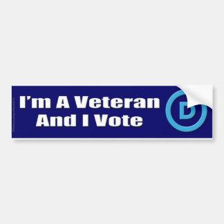 私は退役軍人であり、投票します バンパーステッカー