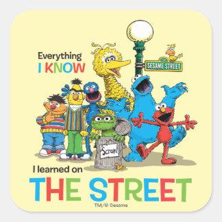 私は通りで学びました スクエアシール