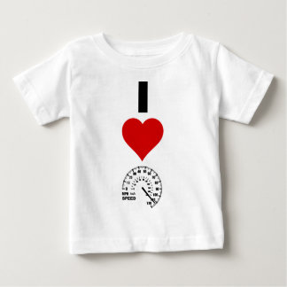 私は速度を愛します(縦) ベビーTシャツ