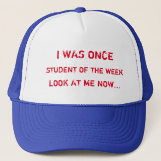 私は週の習慣の帽子の学生でした キャップ