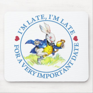 私は遅れます、私非常に重要な日付の間遅れます! マウスパッド