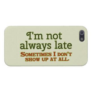 私は遅れません常に iPhone 5 カバー