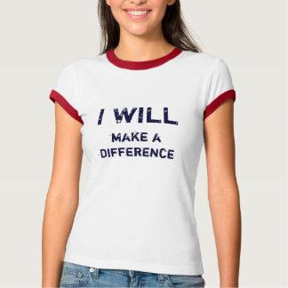 私は違いを生じます Tシャツ