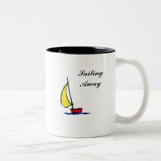 私は遠くにな航海です ツートーンマグカップ