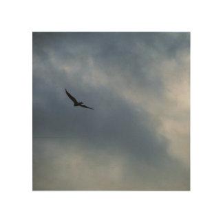 私は遠くに飛ばします ウッドウォールアート