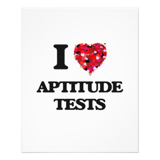 私は適性検査を愛します 11.4CM X 14.2CM チラシ