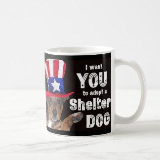 私は避難所犬を採用してほしいです コーヒーマグカップ