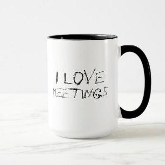 私は都市会合-刃の鋭いオフィスワークのマグ--を愛します マグカップ