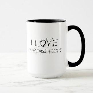 私は都市展開表-刃の鋭いオフィスのマグ--を愛します マグカップ