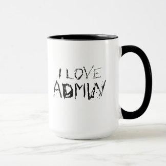 私は都市admin -刃の鋭いオフィスワークのマグ--を愛します マグカップ