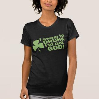 私は酔ったに私ではないです神誓います! アイルランド語 Tシャツ