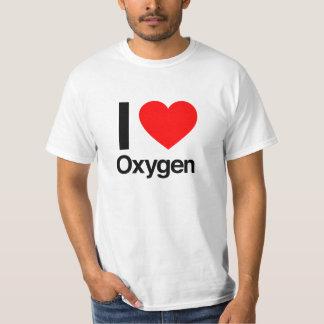 私は酸素を愛します Tシャツ