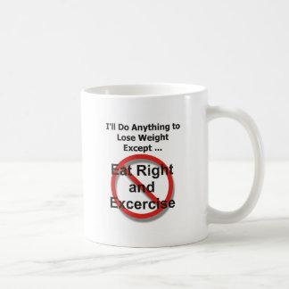 私は重量をを除く失うことを何でも…します コーヒーマグカップ