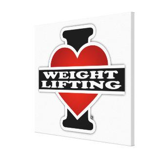 私は重量挙げを愛します キャンバスプリント
