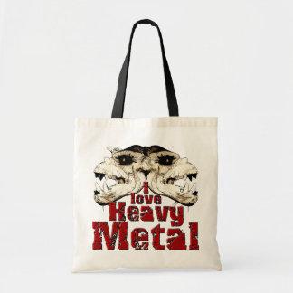私は重金属のバッグを愛します トートバッグ