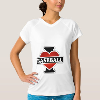 私は野球を愛します Tシャツ