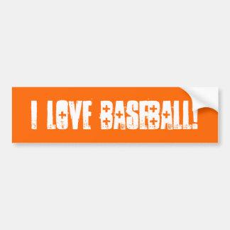 私は野球壁/ラップトップ/車のバンパーステッカーを愛します バンパーステッカー