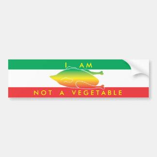 私は野菜ではないです バンパーステッカー