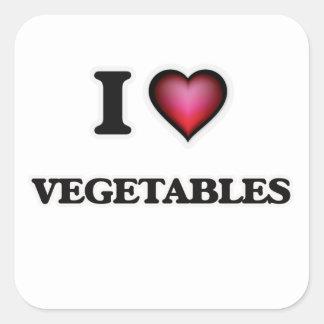 私は野菜を愛します スクエアシール