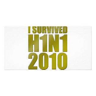私は金ゴールドのH1N1 2010年を生き延びました カード