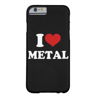 私は金属のiPhone 6/6sを愛します Barely There iPhone 6 ケース