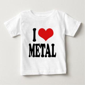 私は金属を愛します ベビーTシャツ