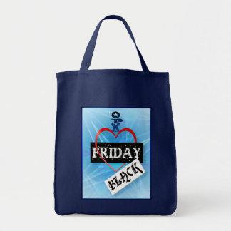 私は金曜日の黒いバッグを愛します トートバッグ