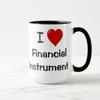 私は金融商品の失礼な投資の言葉を愛します マグカップ