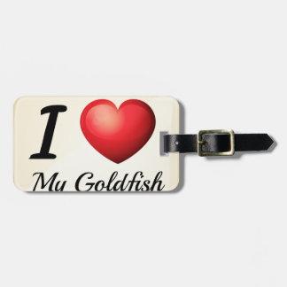 私は金魚を愛します ラゲッジタグ