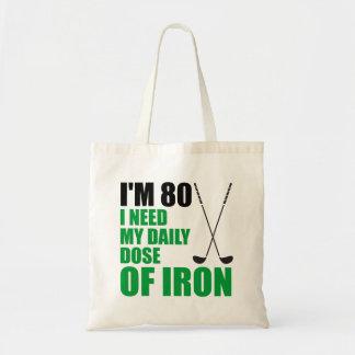 私は鉄のゴルファーのトートバックの80毎日の線量です トートバッグ
