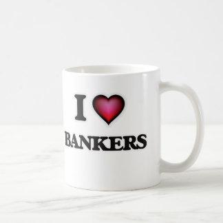 私は銀行家を愛します コーヒーマグカップ