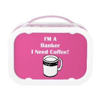 私は銀行家、私必要としますコーヒーをです! ランチボックス