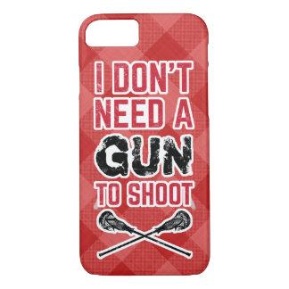 私は銃がラクロスを撃つことを必要としません iPhone 8/7ケース