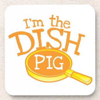 私は鍋を持つ皿のブタです コースター