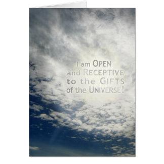 私は開きま、感受性が強いです-カード カード