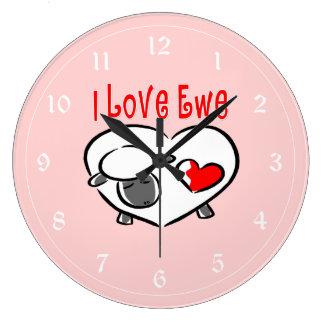 私は雌ヒツジを愛します ラージ壁時計