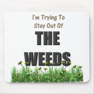 私は雑草を避けることを試みています マウスパッド